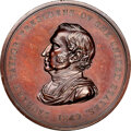 1849-Dated Zachary Taylor Peace Medal, Middle Size, First Reverse, Julian IP-28, Bronze, MS63 Brown NGC