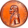 1801-Dated (Post-1861) Thomas Jefferson Peace Medal, Large Size, Second Reverse, Julian IP-3, Bronze, MS63 Brown NGC