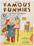 Golden Age (1938-1955):Humor, Famous Funnies #43 (Eastern Color, 1938) Condition: FN-....