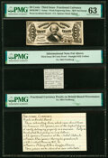 Fractional Currency:Second Issue, F.E. Spinner's Personal Set of Bristol Board Proofs.. ... (Total: 7 notes)