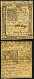 Colonial Notes:Delaware, Delaware June 1, 1759 20s Fine-Very Fine;. Delaware January 1, 1776 2s6d Extremely Fine.. ... (Total: 2 notes)