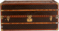 "Louis Vuitton Monogram Coated Canvas Wardrobe Steamer Trunk Condition: 4 21.5"" Width x 44"" Height"