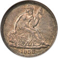 1838-O H10C No Stars MS61 NGC. With a mintage of only 70,000 pieces, the 1838-O No Stars half dime is a sought-after iss...