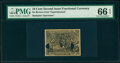 Fractional Currency:Second Issue, Milton 2E10F.2a 10¢ Second Issue Experimental Face PMG Gem Uncirculated 66 EPQ. . ...