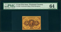 Fr. 1228 5¢ First Issue PMG Choice Uncirculated 64