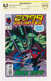 2099 Unlimited #1 Signed by Tom DeFalco (Marvel, 1993) CBCS VF+ 8.5 White pages