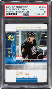 2004 SP Authentic Rookie Redemption Alexander Ovechkin #RR30 PSA Mint 9 - Serial Numbered 306/399