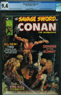 Magazines:Adventure, Savage Sword of Conan #3 (Marvel, 1974) CGC NM 9.4 White pages.