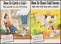 """How to Catch a Cold (RKO, 1951). Rolled, Very Fine+. Educational Posters (14"""" X 20"""") 4 Styles. Documentary..."""