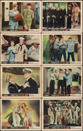 """Movie Posters:Comedy, Let's Go Navy! (Monogram, 1951). Fine. Lobby Card Set of 8 (11"""" X 14""""). Comedy.. ... (Total: 8 Items)"""