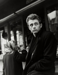 Roy Schatt (American, 1909-2002) James Dean, 1954 Gelatin silver, printed later 17-7/8 x 14 inches (45.4 x 35.6 cm)