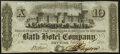 New York, NY- Bath Hotel Company $10 / 1 Share Sep. 6, 1853 About Uncirculated