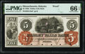 Obsoletes By State:Massachusetts, Holyoke, MA- Hadley Falls Bank $5 18__ as G10a Proof PMG Gem Uncirculated 66 EPQ.. ...