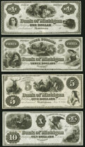 Obsoletes By State:Michigan, Marshall, MI- Bank of Michigan $1; $3; $5; $10 18__ (2) Jan. 1, 1862 (2) Remainders G2; G4; G6; G8 Crisp Uncirculated.. ... (Total: 4 notes)