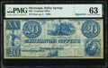 Obsoletes By State:Mississippi, Holley Springs, MS- Exchange Office $20 18__ Remainder PMG Choice Uncirculated 63.. ...