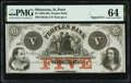 Obsoletes By State:Minnesota, St. Peter, MN- Peoples Bank $5 18__ Remainder G8a Hewitt B780-D5b PMG Choice Uncirculated 64.. ...