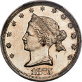 Patterns, 1875 20C Sailor Head Twenty Cents, Judd-1392, Pollock-1535, R.6, PR62 PCGS....