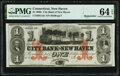 Obsoletes By State:Connecticut, New Haven, CT- City Bank of New Haven $1 Feb. 1, 1865 Remainder G12c PMG Choice Uncirculated 64 EPQ.. ...