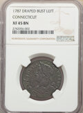 1787 Connct Connecticut Copper, Draped Bust Left, XF45 NGC. NGC Census: (46/156). PCGS Population: (48/68). XF45. ...(PC...