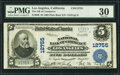 National Bank Notes:California, Los Angeles, CA - $5 1902 Plain Back Fr. 609 The National Bank of Commerce Ch. # 12755 PMG Very Fine 30.. ...