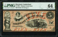 Obsoletes By State:Maryland, Cumberland, MD- Allegany County Bank $5 Jan. 4, 1860 G6c Shank 30.2.8 PMG Choice Uncirculated 64.. ...