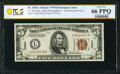 Small Size:World War II Emergency Notes, Fr. 2302 $5 1934A Hawaii Federal Reserve Note. PCGS Banknote Gem Unc 66 PPQ.. ...