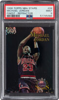 Basketball Cards:Singles (1980-Now), 1996 Topps NBA Stars Michael Jordan (Finest Refractor) #24 PSA Mint 9. ...
