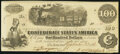 Confederate Notes:1862 Issues, T40 $100 1862 Extremely Fine.. ...
