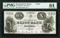 Boston, MA- Eliot Bank $10 18__ Haxby Unlisted Proof PMG Choice Uncirculated 64, POCs