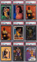 Basketball Cards:Lots, 1996-1997 Multi-Brand Kobe Bryant PSA-Graded Collection (9). ...