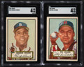Baseball Cards:Lots, 1952 Topps Baseball High Numbers SGC Graded Pair (2) - Crowe & Wilber. ...