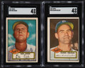 Baseball Cards:Lots, 1952 Topps Baseball High Numbers SGC Graded Pair (2) - Wade & Nelson. ...