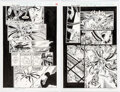 Original Comic Art, Patrick Zircher and Greg Adams Venom: Along Came a Spider #3 Story Page Original Art Group of 2 (Marvel, 1996).... (Total: 2 Original Art)