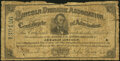 Columbus, OH- Lincoln Dioramic Association Certificate of Admission 50(¢) ND (1866-73) Good