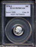 Proof Roosevelt Dimes: , 1978-S 10C PR70 Deep Cameo PCGS. The devices of this ...