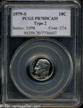 Proof Roosevelt Dimes: , 1979-S 10C Type Two PR70 Deep Cameo PCGS. This is the ...