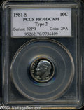 Proof Roosevelt Dimes: , 1981-S 10C Type Two PR70 Deep Cameo PCGS. This is a ...