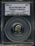 Proof Roosevelt Dimes: , 1983-S 10C PR70 Deep Cameo PCGS. The normal proof variety ...