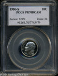 Proof Roosevelt Dimes: , 1986-S 10C PR70 Deep Cameo PCGS. A perfect black and ...