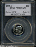 Proof Roosevelt Dimes: , 1988-S 10C PR70 Deep Cameo PCGS. A further perfect Proof ...