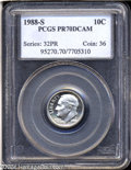 Proof Roosevelt Dimes: , 1988-S 10C PR70 Deep Cameo PCGS. Perfect with brilliant ...