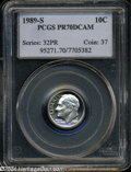 Proof Roosevelt Dimes: , 1989-S 10C PR70 Deep Cameo PCGS. A delightful and ...