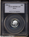 Proof Roosevelt Dimes: , 1992-S 10C Silver PR70 Deep Cameo PCGS. Beginning in 1992,...