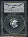 Proof Roosevelt Dimes: , 1994-S 10C Silver PR70 Deep Cameo PCGS. A wonderful ...