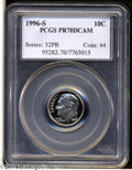 Proof Roosevelt Dimes: , 1996-S 10C Clad PR70 Deep Cameo PCGS. This is an ...