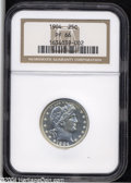 Proof Barber Quarters: , 1904 25C PR66 NGC. A dazzling Gem proof with deeply ...