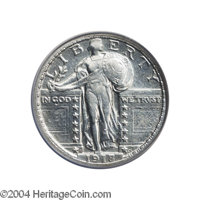 1918/7-S 25C --Improperly Cleaned--NCS. XF Details. Bright silver surfaces and now regaining just a wisp of pale gold to...