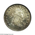 Early Half Dollars: , 1807 50C Draped Bust MS65 NGC. O-110, R.2. A moderately ...