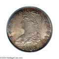 Bust Half Dollars: , 1807 50C Capped Bust, Large Stars, 50 Over 20 MS65 PCGS. ...