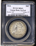 Bust Half Dollars: , 1834 50C Large Date, Large Letters MS61 PCGS. O-101, R.1. ...